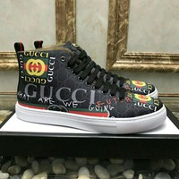 Gucci Man or Woman Fashion Strappy Sneakers Sport Shoes
