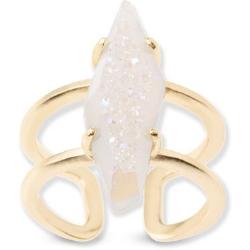 Kendra Scott: Boyd Cocktail Ring In Iridescent Drusy
