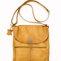Rugged Hide – Bianca Leather Bag in Tan