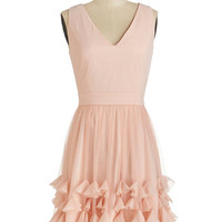 ModCloth Fairytale Mid-length Sleeveless A-line In Due Corsage Dress