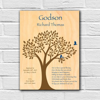 Gift for Godson, Gift from Godparents, Godson Gift, Personalized Baptism Gift, Christening Gift, Baptism Wall Art, Goddaughter Gift