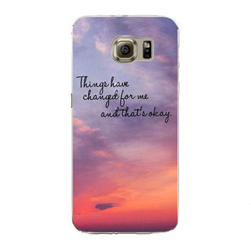 Samsung Galaxy S7 Edge Soft Silicon TPU Poetic Words Printed Case Back Cover