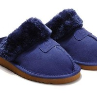 UGG Coquette Slippers 5125 Deep Blue Outlet UK