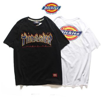 Dickies x THRASHER Woman Men Fashion Casual Tunic Shirt Top Blouse