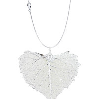 Real Leaf PENDANT with chain COTTONWOOD Dipped in Silver Genuine Leaf Necklace