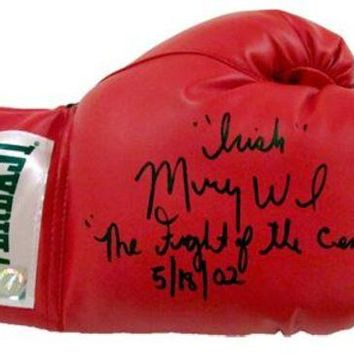 DCCKJNG Irish' Micky Ward Signed Autographed 'Fight of The Century 5/18/02' Inscription Everlast Boxing Glove (ASI COA)