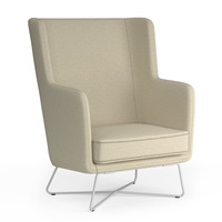 Rockwell Unscripted High Back Lounge Chair | Knoll