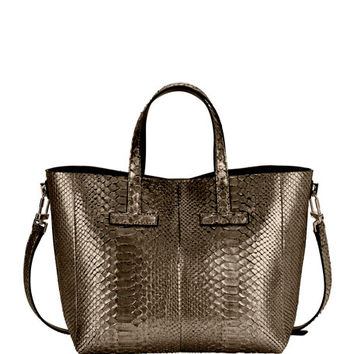 TOM FORD T Tote Mini Python Crossbody Bag