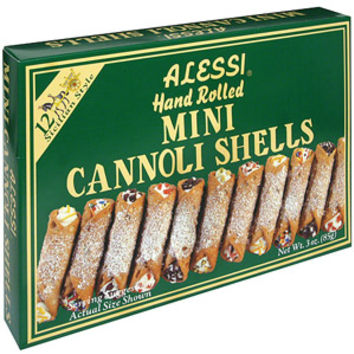 Walmart: Alessi Hand-Rolled Mini Cannoli Shells, 4 oz (Pack of 12)