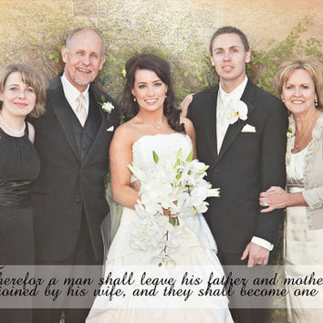 Wedding Photo Mother Father Family Thank You Photo Art Custom Photo Editing