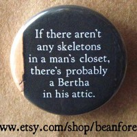 there's a bertha in the attic Jane Eyre by beanforest on Etsy