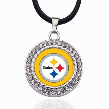 Wimpy kid Pittsburgh Steelers Pendant Necklace Best Gift for /Women/Girl/Men/Mom Exquisite Sliver/Rose Gold Women Jewelry