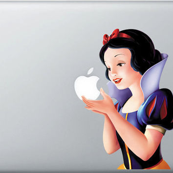 Beautiful Snow White Sticker inspired Vinyl decal for Apple Macbook Pro / Air