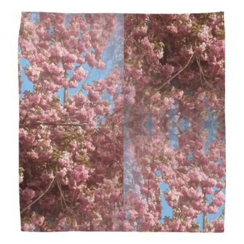 Cherry Blossom Photo on Bandana