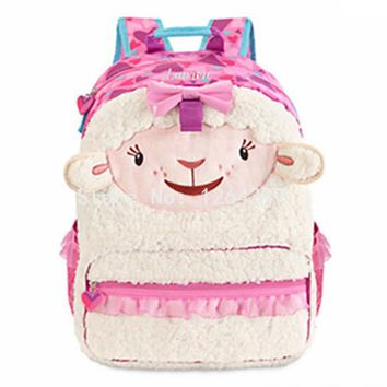 New Cute Doc McStuffins Lambie Girls School Bags Kids Cartoon Backpack Bag For Children Gifts