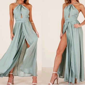Empress High-Neck Maxi Dress