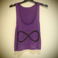COSMIC RAY clothing — 'INFINITY' Purple Crop Top