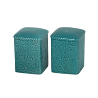 Cowgirl Kim Savannah Salt & Pepper Shakers~ Turquoise