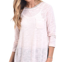 Beaded Neck Slub Knit Top