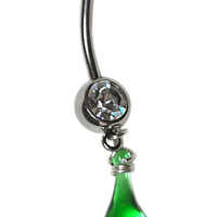 Kelly Green Belly Ring