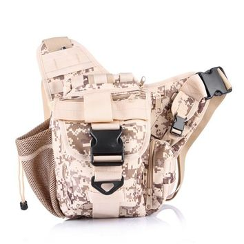 Sports gym bag Men  Crossbody Military Shoulder Bag Camping Fishing Messenger Bag Tactical Hiking Travel army Bag Camouflage KO_5_1