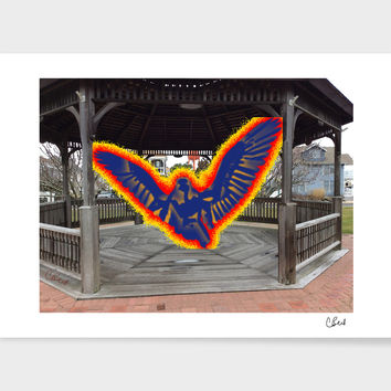 «Angel in Gazebo» Art Print by Casey Bell - Exclusive Edition from $24.9 | Curioos
