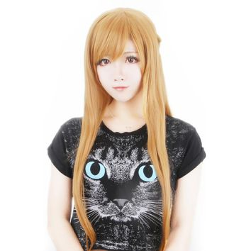 Sword Art Online Yuuki Asuna Cosplay wig Yuki Asuna Role Play braid styled Hair +Wig Cap