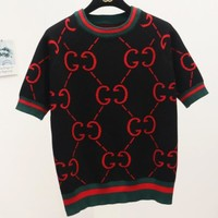 GUCCI New fashion more letter top t-shirt women Black