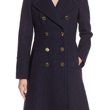 GUESS Fit & Flare Military Coat | Nordstrom