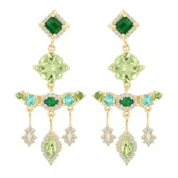 Eden Presley Green Dangly Earrings