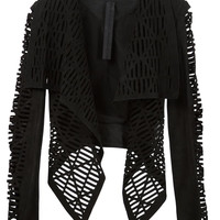 Laser Cut Jacket in Black