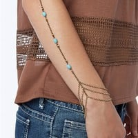 Turquoise Stone Arm Chain