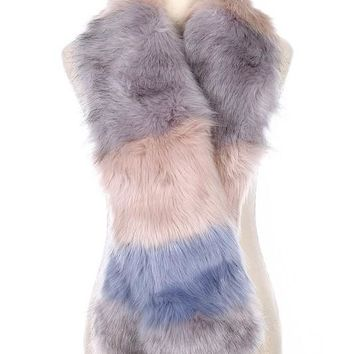 Baby It's Cold Outside Soft Fur Fuzzy Scarf