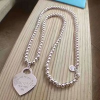 Tiffany fashion 925 sterling silver silver necklace high quality
