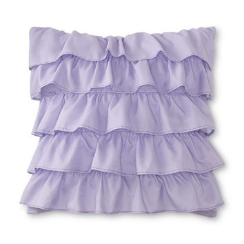 CRB Ruffled Decorative Pillow - Purple