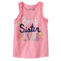 Jumping Beans Glitter Graphic Tank - Toddler