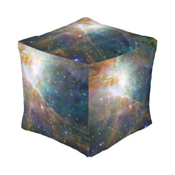 Orion Nebula in space Cube Pouf