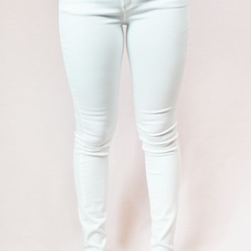 pure low rise jeans - white