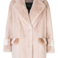 Blancha Boxy Mink Fur Coat - Farfetch