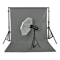 Neewer 1.8 x 2.8M/ 6 x9ft Photo Studio 100% Pure Muslin Collapsible Backdrop Background, GREY