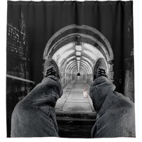The White Rabbit: deep down the rabbit's hole Shower Curtain