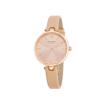 Kate Spade Holland Skinny Strap Watch Vachetta/Rose Gold ONE