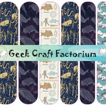 Steampunk Nail Decal Wraps 2 different designs to choose from!