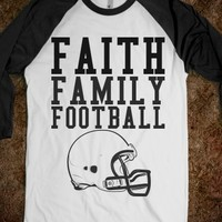 Supermarket: Faith Family Football Shirt from Glamfoxx Shirts