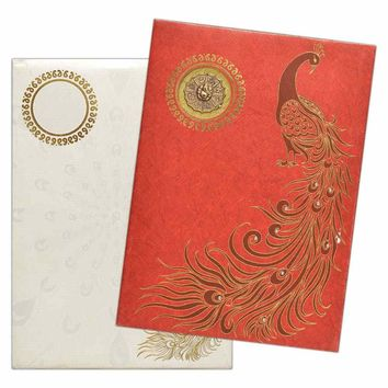 Exotic & Elegant Peacock Invitation Card-KNK1223