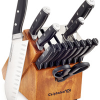 Calphalon Classic SharpIN Self Sharpening 15-Pc. Cutlery Set, Created for Macy's | macys.com