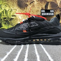 Nike Air Max 98 OFF WHITE Causal Running Shoes Black