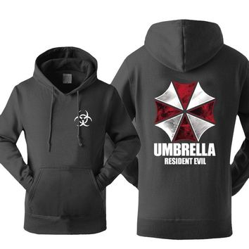 Men Hoodies 2017 Autumn Winter Sweatshirt Fleece High Quality Letter Print Streetwear UMBRELLA Resident Evil Tracksuits Hoody