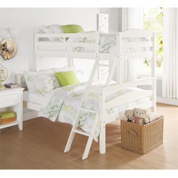 Dorel Living Brady White Twin/ Full Bunk Bed | Overstock.com Shopping - The Best Deals on Kids' Beds