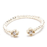 Brandy ♥ Melville |  Gold Double Gem Ring - Jewelry - Accessories